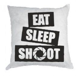 Подушка Eat, sleep, shoot