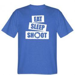 Футболка Eat, sleep, shoot