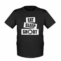 Детская футболка Eat, sleep, shoot