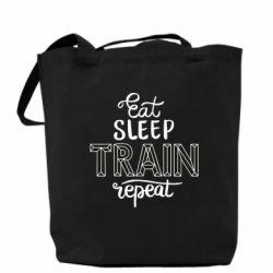Сумка Eat, sleep, TRAIN, repeat