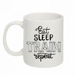 Кружка 320ml Eat, sleep, TRAIN, repeat