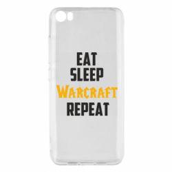 Чехол для Xiaomi Mi5/Mi5 Pro Eat sleep Warcraft repeat