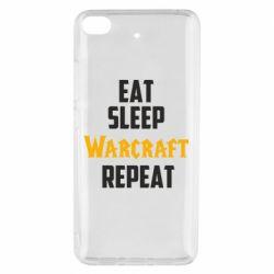 Чехол для Xiaomi Mi 5s Eat sleep Warcraft repeat