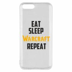 Чехол для Xiaomi Mi6 Eat sleep Warcraft repeat