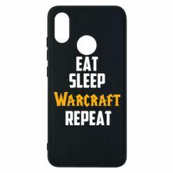 Чехол для Xiaomi Mi8 Eat sleep Warcraft repeat