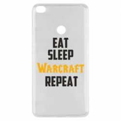 Чехол для Xiaomi Mi Max 2 Eat sleep Warcraft repeat