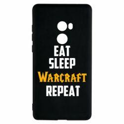 Чехол для Xiaomi Mi Mix 2 Eat sleep Warcraft repeat