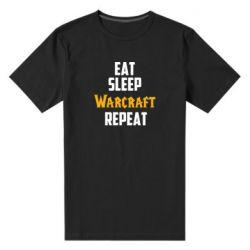 Мужская стрейчевая футболка Eat sleep Warcraft repeat