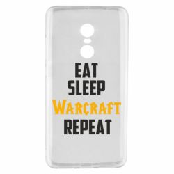 Чехол для Xiaomi Redmi Note 4 Eat sleep Warcraft repeat