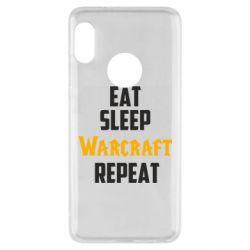 Чехол для Xiaomi Redmi Note 5 Eat sleep Warcraft repeat