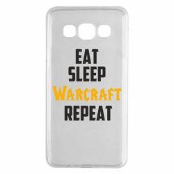 Чехол для Samsung A3 2015 Eat sleep Warcraft repeat