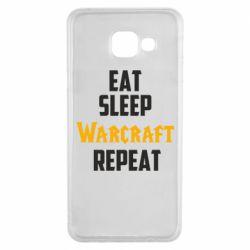 Чехол для Samsung A3 2016 Eat sleep Warcraft repeat
