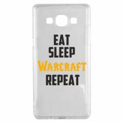 Чехол для Samsung A5 2015 Eat sleep Warcraft repeat