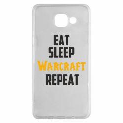 Чехол для Samsung A5 2016 Eat sleep Warcraft repeat