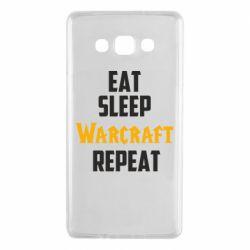 Чехол для Samsung A7 2015 Eat sleep Warcraft repeat
