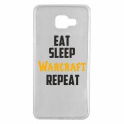 Чехол для Samsung A7 2016 Eat sleep Warcraft repeat