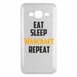 Чехол для Samsung J3 2016 Eat sleep Warcraft repeat