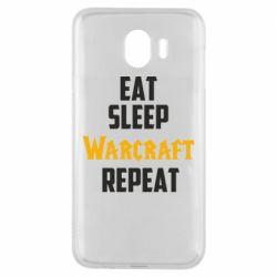 Чехол для Samsung J4 Eat sleep Warcraft repeat
