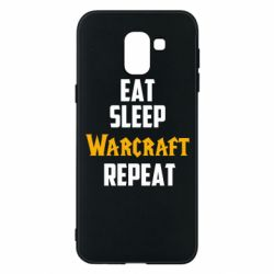 Чехол для Samsung J6 Eat sleep Warcraft repeat