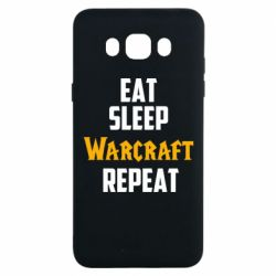Чехол для Samsung J7 2016 Eat sleep Warcraft repeat