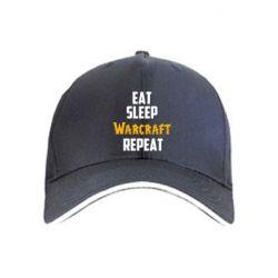 Кепка Eat sleep Warcraft repeat