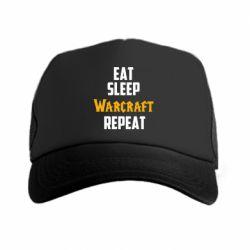 Кепка-тракер Eat sleep Warcraft repeat