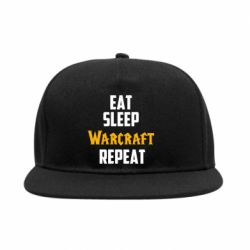Снепбек Eat sleep Warcraft repeat