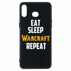 Чехол для Samsung A6s Eat sleep Warcraft repeat