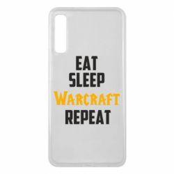 Чехол для Samsung A7 2018 Eat sleep Warcraft repeat