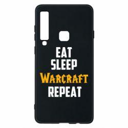 Чехол для Samsung A9 2018 Eat sleep Warcraft repeat