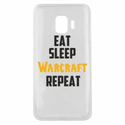 Чехол для Samsung J2 Core Eat sleep Warcraft repeat