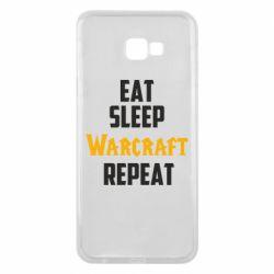 Чехол для Samsung J4 Plus 2018 Eat sleep Warcraft repeat