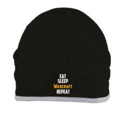 Шапка Eat sleep Warcraft repeat