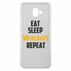 Чехол для Samsung J6 Plus 2018 Eat sleep Warcraft repeat