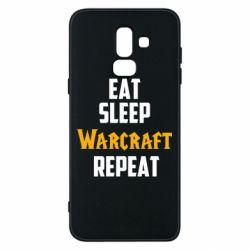 Чехол для Samsung J8 2018 Eat sleep Warcraft repeat