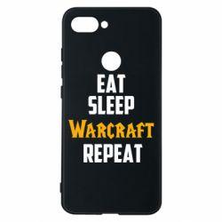 Чехол для Xiaomi Mi8 Lite Eat sleep Warcraft repeat