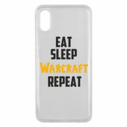Чехол для Xiaomi Mi8 Pro Eat sleep Warcraft repeat