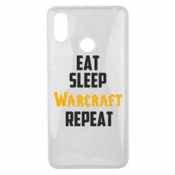 Чехол для Xiaomi Mi Max 3 Eat sleep Warcraft repeat