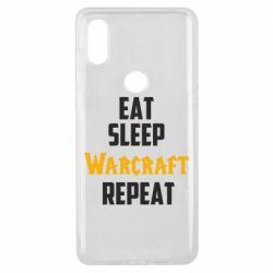 Чехол для Xiaomi Mi Mix 3 Eat sleep Warcraft repeat
