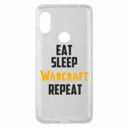 Чехол для Xiaomi Redmi Note 6 Pro Eat sleep Warcraft repeat