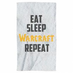 Полотенце Eat sleep Warcraft repeat