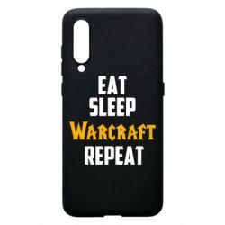 Чехол для Xiaomi Mi9 Eat sleep Warcraft repeat