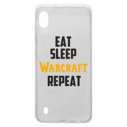 Чехол для Samsung A10 Eat sleep Warcraft repeat