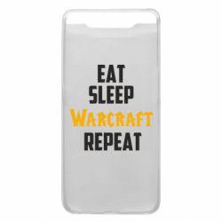 Чехол для Samsung A80 Eat sleep Warcraft repeat