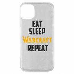 Чехол для iPhone 11 Pro Eat sleep Warcraft repeat