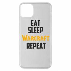 Чехол для iPhone 11 Pro Max Eat sleep Warcraft repeat