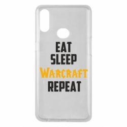 Чехол для Samsung A10s Eat sleep Warcraft repeat