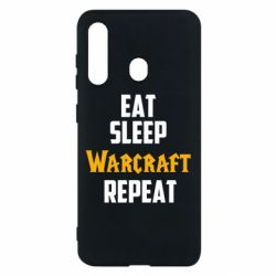 Чехол для Samsung M40 Eat sleep Warcraft repeat