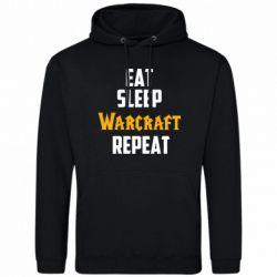 Мужская толстовка Eat sleep Warcraft repeat