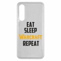 Чехол для Xiaomi Mi9 SE Eat sleep Warcraft repeat